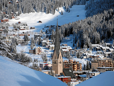 World Economic Forum 2015: View of Davos